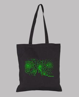 pieflores grüne schwarze jutebeutel