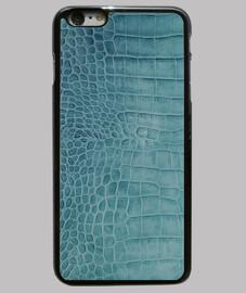 piel de cocodrilo azul pato