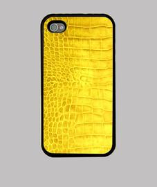piel de cocodrilo de color amarillo