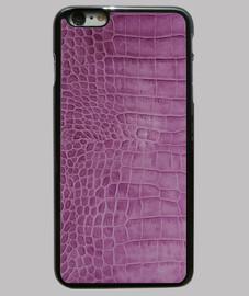 piel de cocodrilo de color púrpura