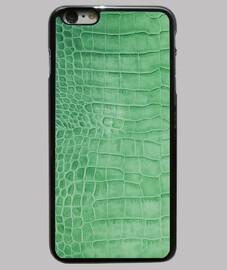 piel de cocodrilo verde