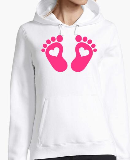 Jersey pies de bebé corazones