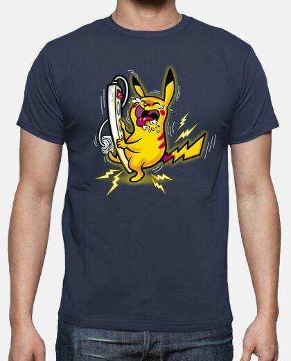 Pikachu happy camiseta