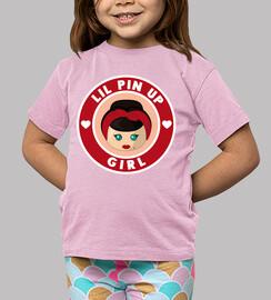 Pin up Girl Camiseta Niña