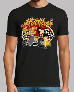 pin up girl retro hot rod rockabilly musik vintage rocker 1950er jahre 60er jahre t-shirt