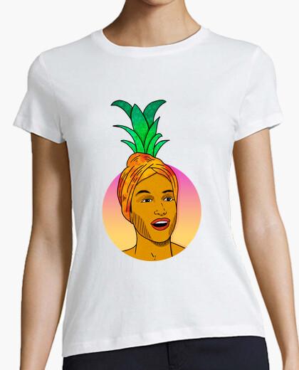 98e00a26ee Camiseta Piña - Mujer, manga corta, blanca, calidad premium - nº ...
