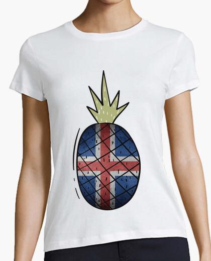 Camiseta Piña Bandera Islandia