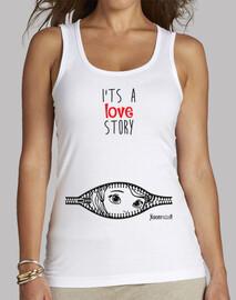 pincipessa, historia de amor   camiseta sin mangas