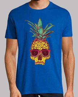 Pineapple skull tattoo