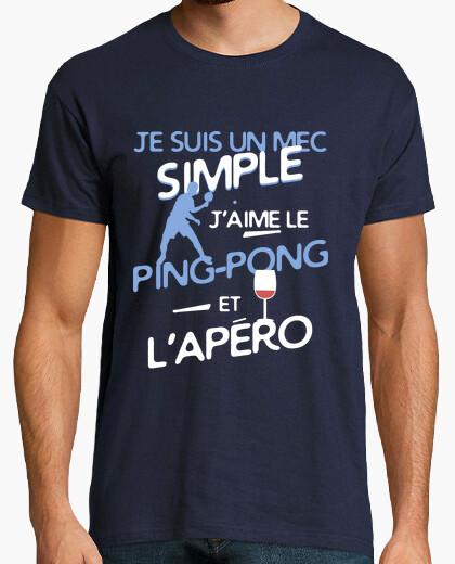 Camiseta ping pong - un chico sencillo