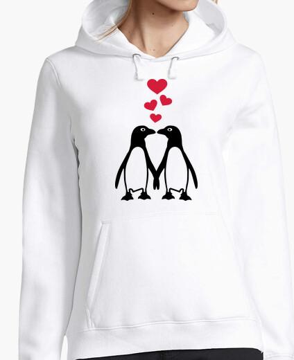 Jersey pingüino corazones rojos amor