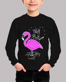 Pink Flamingo (Lineas en blanco)