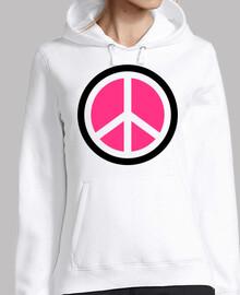 Pink peace logo
