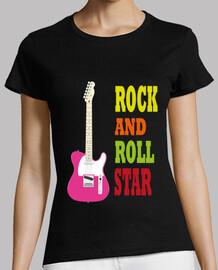 pink rock guitar