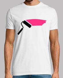 pintor rodillo de color rosa
