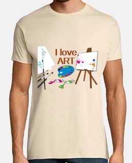 pintura artística amor