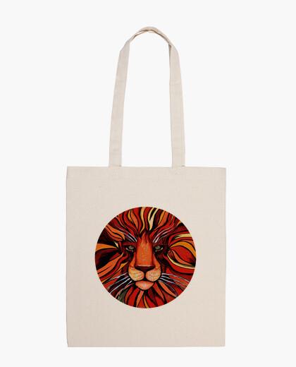Bolsa pintura artistica de león colorida - bandolera