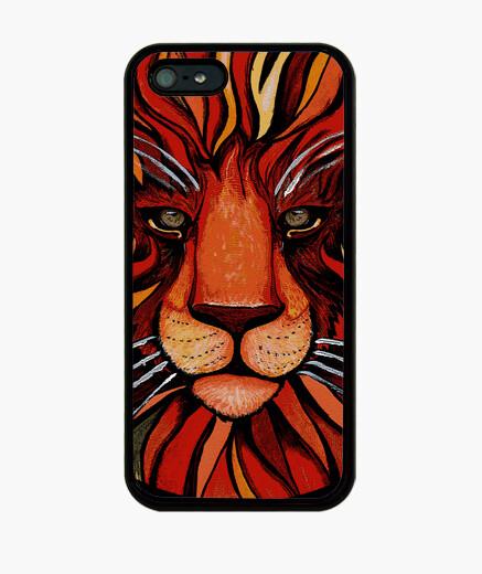 Funda iPhone pintura artistica de león...