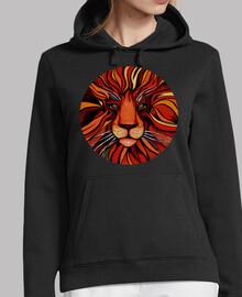 pintura de leon colorida