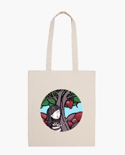 Bolsa pintura mamá naturaleza - abrazo , arbol , corazon - Bandolera 100% algodón