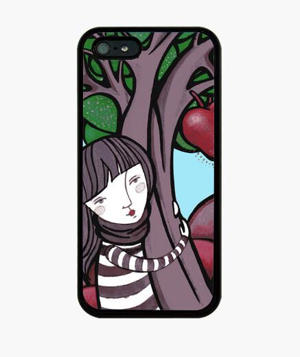 Pintura mamá naturaleza - abrazo , arbol , corazon - Funda iPhone 5 / 5s, negra