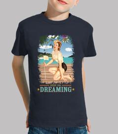pinup - beach - still dreaming - vintage