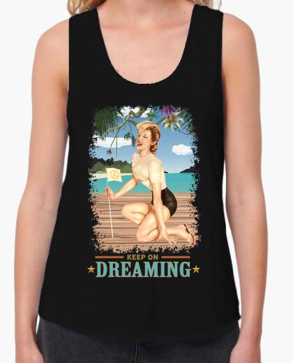 Camiseta Pinup - Playa - Sigue soñando - Vintage