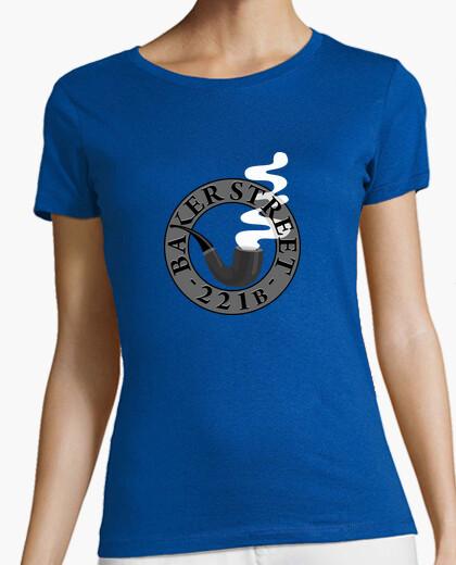Camiseta Pipa Sherlock B/N