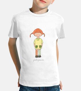 Pippi Langstrump Calzaslargas. Camiseta infantil