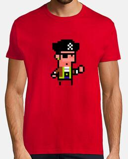 Pirata. Pixel art. Hombre