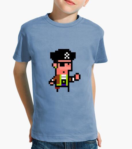 Ropa infantil Pirata. Pixel art. Niño