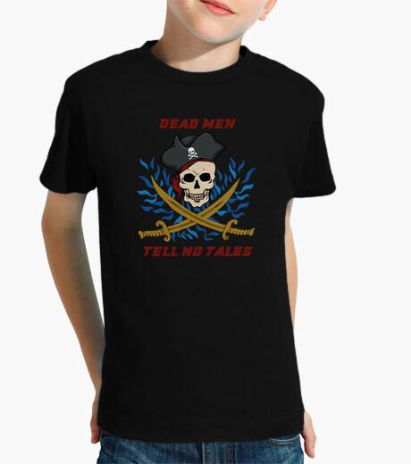 Ropa infantil piratas hombres de la camiseta muertos no cuentan cuentos
