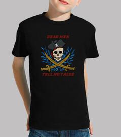 piratas hombres de la camiseta muertos no cuentan cuentos