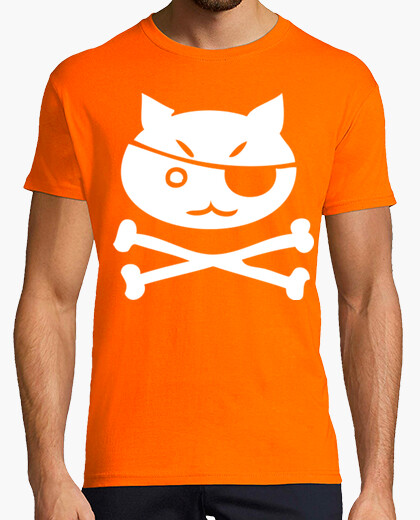 Camiseta Pirate kitty Calavera Terror humor