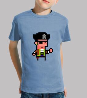 pirate. pixel art. enfant