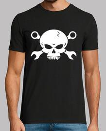 pirate skull n os 2 vis (blanc)