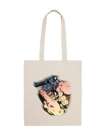 pistolet pop art /// sac /// crème