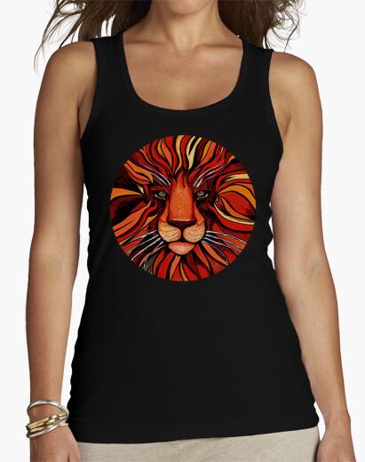 Pittura artistica di leone colorato - t-shirt donna senza maniche