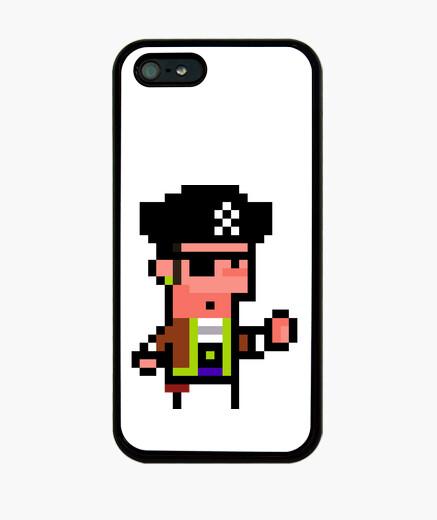 Coque iPhone pixel art pirate