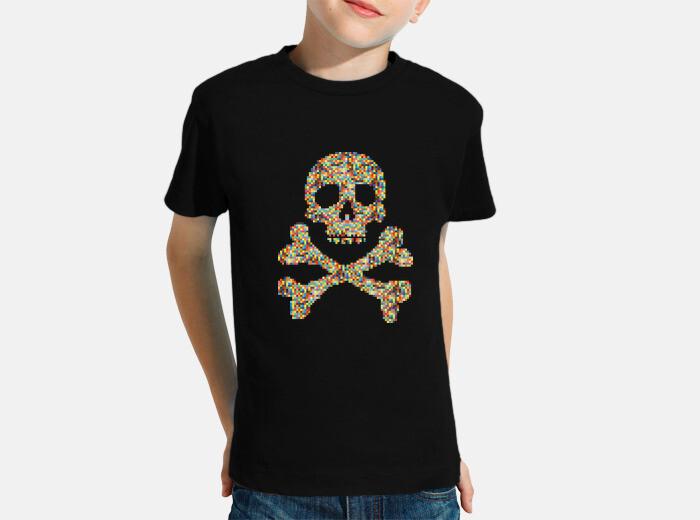 54e190503 pixel skull Children's clothes - 418613 | Tostadora.co.uk
