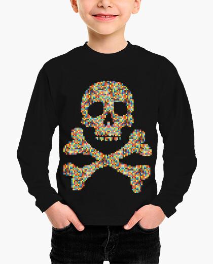 Pixel skull children's clothes