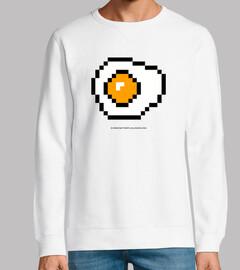 pixelated fried egg