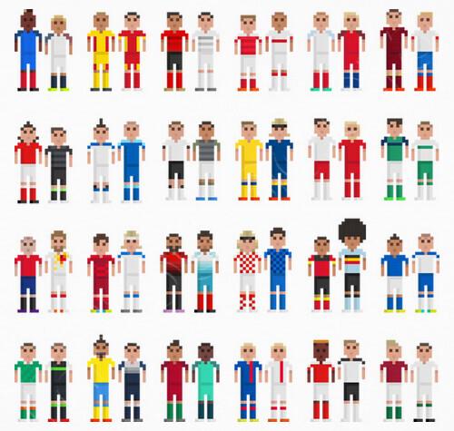Pixels European Footballers T Shirt Tostadoracom
