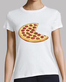 pizza - femme, manches courtes, blanc, qualité supérieure