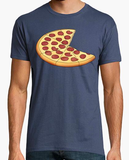 Camiseta Pizza - Hombre, manga corta, denim, calidad extra