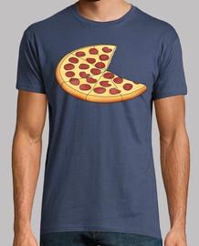 Pizza - Hombre, manga corta, denim, calidad extra