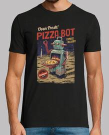 pizza bot camiseta para hombre