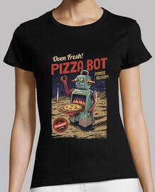 pizza bot camiseta para mujer