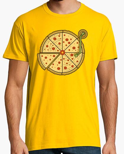 Camiseta pizza de vinilo