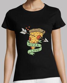 pizza love shirt para mujer